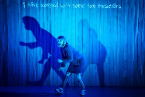 Sophie dancing with her shadow and boastingshe has worked with some top musicians